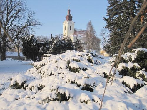 Kostel vBohdalicích zasvěcený Sv.Marii